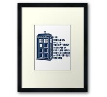 Doctor Who The Optimist Framed Print