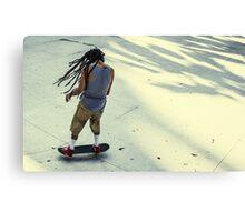 Skateboarder, Benjasiri Park, Bangkok Canvas Print