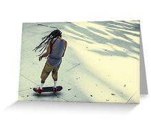 Skateboarder, Benjasiri Park, Bangkok Greeting Card