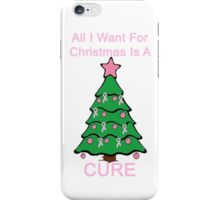 Breast Cancer Christmas iPhone Case/Skin
