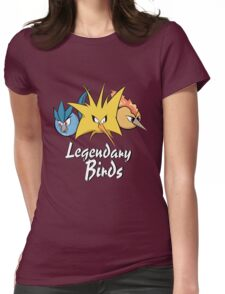 Legendary Birds (Articuno, Zapdos, Moltres) Womens Fitted T-Shirt