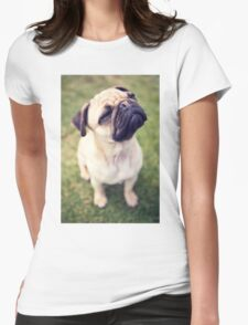 Cheesy Smile Pug *PROCEEDS TO CHARITY* Womens Fitted T-Shirt
