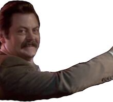 Ron Swanson Arm by arjacobs97