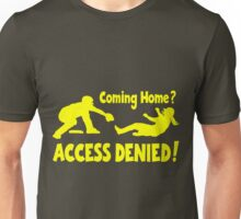 Access Denied2 , yellow Unisex T-Shirt