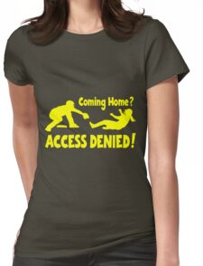 Access Denied2 , yellow Womens Fitted T-Shirt