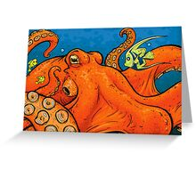 An Enormous Orange Octopus Greeting Card