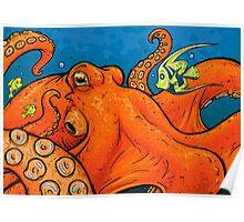 An Enormous Orange Octopus Poster