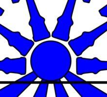 Kendama Sun, blue Sticker