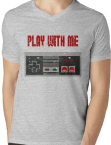 Play with me, NES controller. Mens V-Neck T-Shirt