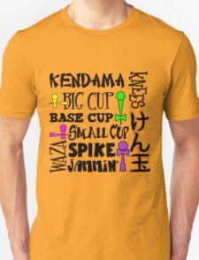 Kendama Word Block, black T-Shirt