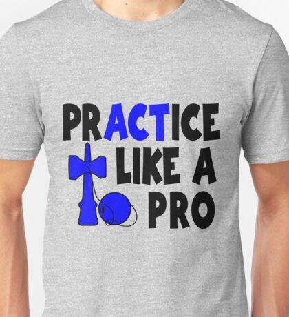 Practice Like a Pro, blue Unisex T-Shirt