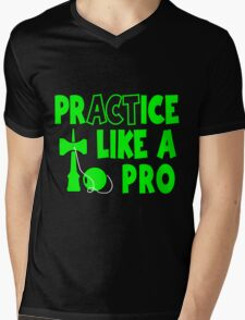 Practice Like a Pro, neon green Mens V-Neck T-Shirt