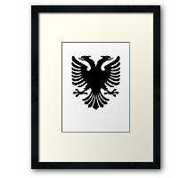 Albanian two headed eagle sigil Framed Print