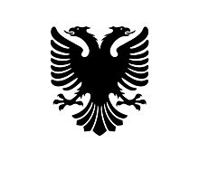 Albanian two headed eagle sigil Photographic Print