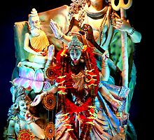 Hindu Goddess Kali & Lord Shiva by SoumyaCreations