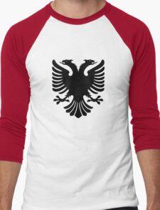 Albanian two headed eagle sigil Men's Baseball ¾ T-Shirt