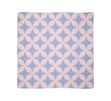 Abstract Frangipani Flower Pattern | Rose Quartz & Serenity | Pantone Colors of the Year 2016 Scarf