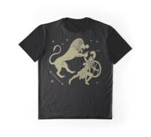 Fight with the lion Graphic T-Shirt