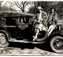 Oldmobile with girls attached by boogeyman