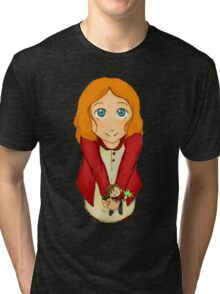 The (little) girl who waited Tri-blend T-Shirt