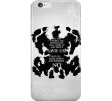 rorschach save us! iPhone Case/Skin