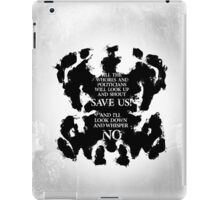rorschach save us! iPad Case/Skin