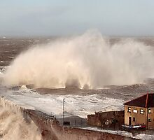 Storm Xavier Pounds Whitehaven Harbour by seanduffy
