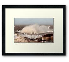 Storm Xavier Pounds Whitehaven Harbour Framed Print