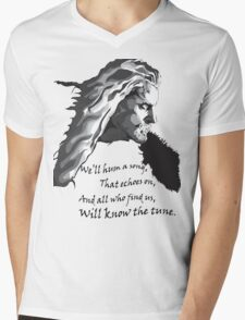 All who find us, will know the tune.  Mens V-Neck T-Shirt