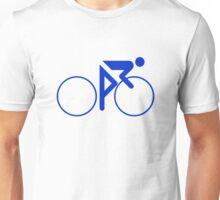 Riding Figure (Blue) Unisex T-Shirt