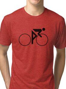 Riding Figure (Black) Tri-blend T-Shirt