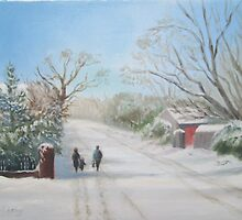Turvey Avenue in the Snow by Geraldine M Leahy