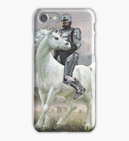 Robocop On A Unicorn iPhone Case/Skin