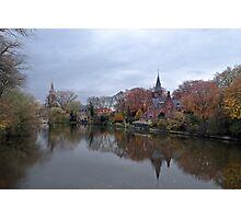 Bruges at Dusk Photographic Print