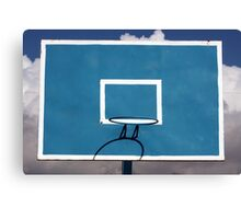 Basketball Backboard Canvas Print