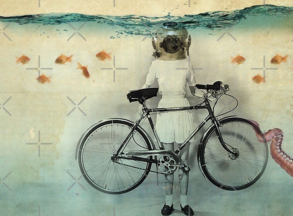 diving bell cyclist by Vin  Zzep