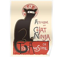 A French Ninja Cat (Le Chat Ninja) Poster