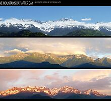 3 Panos of the Belledonne mountains.. motionless voyage by Eric Tchijakoff