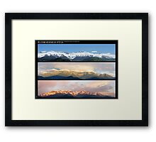 3 Panos of the Belledonne mountains.. motionless voyage Framed Print