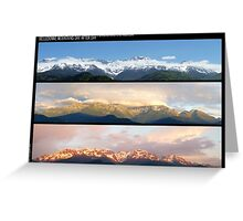 3 Panos of the Belledonne mountains.. motionless voyage Greeting Card