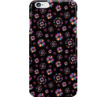 Rainbow Petals in Black II iPhone Case/Skin