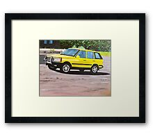 'Layer Cake' Range Rover Framed Print