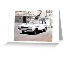 'Minder' Mk.2 Ford Capri 2.0s Greeting Card