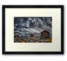 Old Fort Rock Framed Print