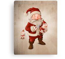 Santa Claus and mechanical doll Canvas Print