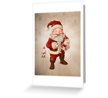 Santa Claus and mechanical doll Greeting Card
