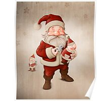 Santa Claus and mechanical doll Poster