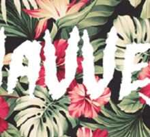 Wavves Floral Pattern Sticker