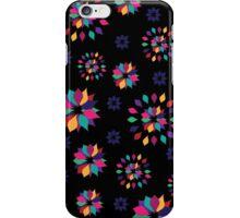 Rainbow Petals in Black iPhone Case/Skin