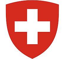 Coat of Arms of Switzerland  Photographic Print